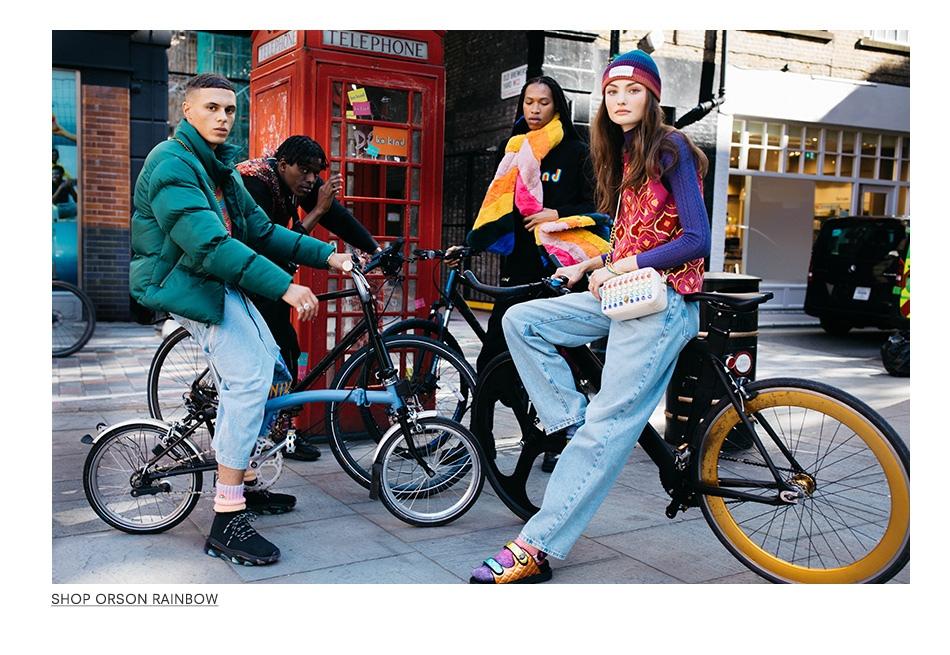 Kurt Geiger models on bikes US