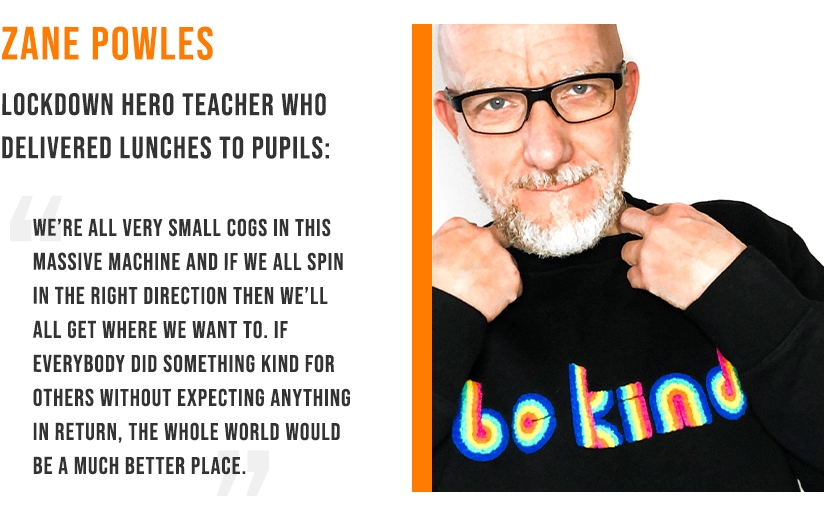 Zane Powles - Lockdown hero teacher